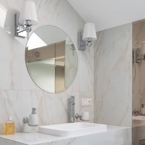 Miroir rond salle de bain 80cm teinte claire 4 mm