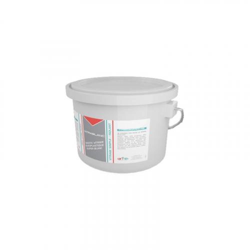 VITRABLANC - Mastic oléoplastique Blanc - Pot 1 kg