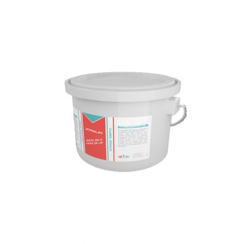 VITRALIN - Mastic huile de lin - Pot 5 kg - Beige