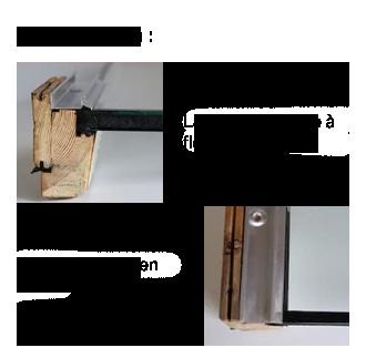 Schéma parclose vitrage 16mm